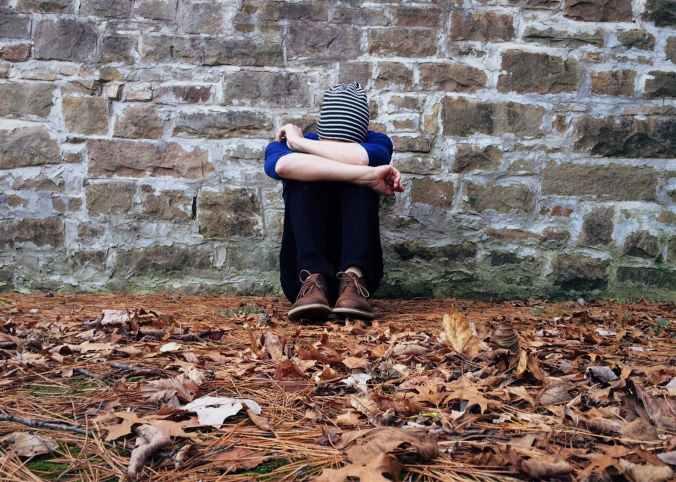 adult alone autumn brick